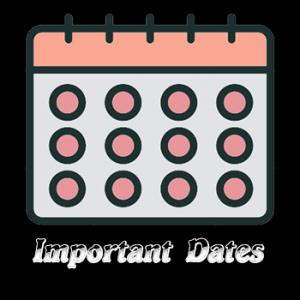 SAMi Important Dates
